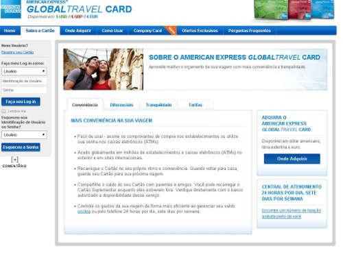 Site cartão global travel card