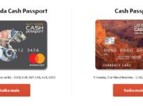 Cartão cash passport pré-pago internacional