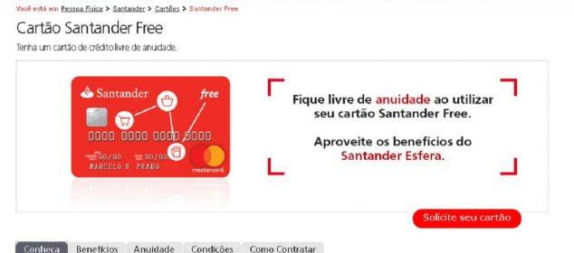 Cartão Santander Free Internacional