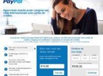 recarga no seu cartão pré-pago virtual do paypal