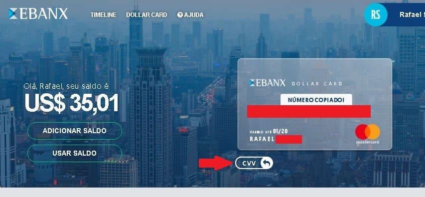 Ebanx Dollar Card Verificar CVV