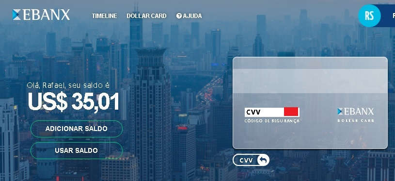 Ebanx Dollar Card CVV 2