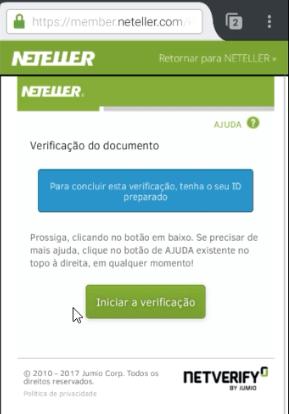 Verificação da conta NETELLER 5