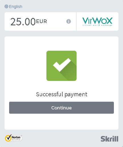 Depositar na VirWox pela Skrill em euros 4