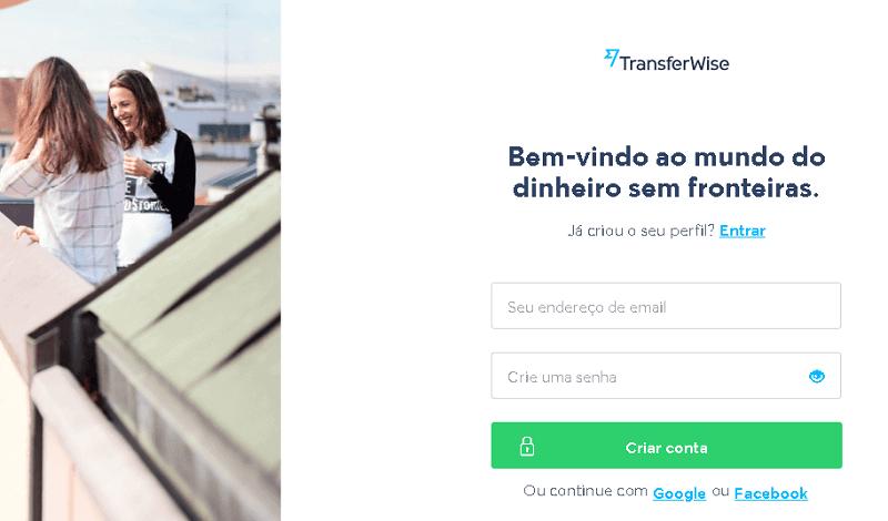 Criar Conta TransferWise E-mail e Senha