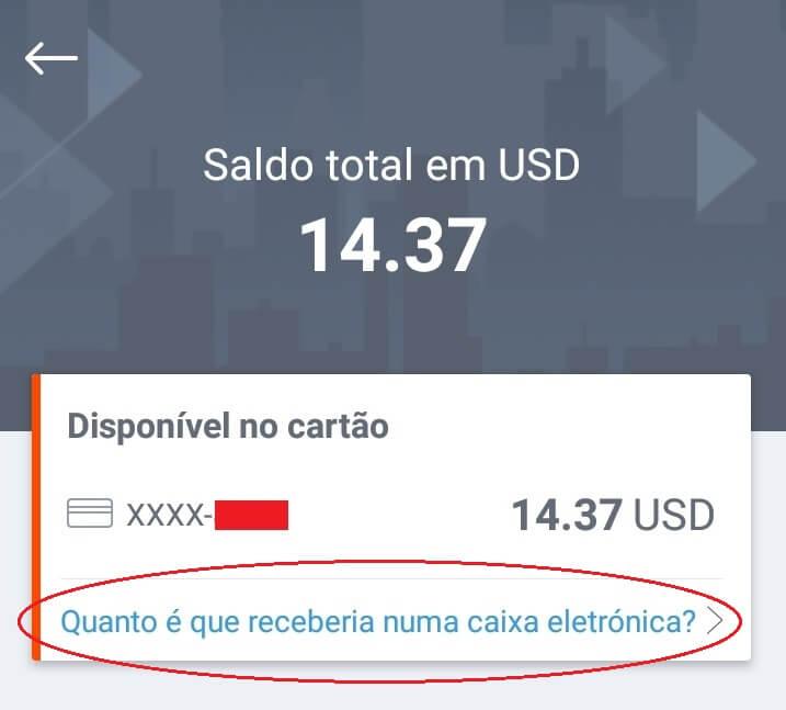 Saldos USD no app da Payoneer