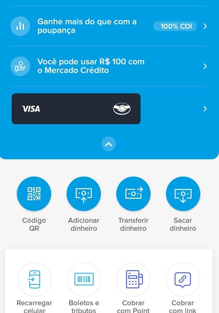 Mercado Pago aplicativo smartphone.